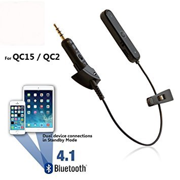 Bluetooth Adapter for Bose QC2/QC15 Headphones - Wireless Converter Cable Receiver for QuietComfort Noise Cancelling Earphones
