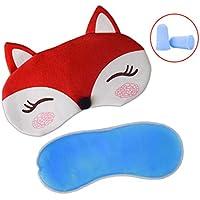 Plüsch Schlafmaske Fox mit Ice Tasche & 2Ohrstöpsel, paciffico Sleep Maske Eye Cover Funny Augenbinde Eye Schatten... preisvergleich bei billige-tabletten.eu