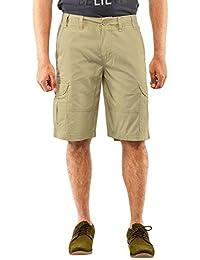 Krystle 6 Pocket Khakhi Cotton Cargo Shorts
