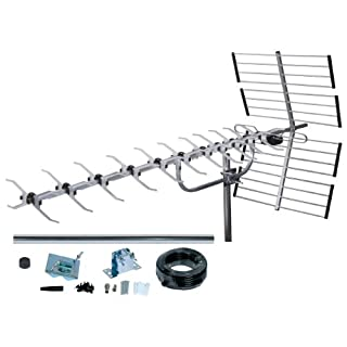 SLx Outdoor Digital TV Aerial Kit 27985K4, 64 Element High Performance 4G Filter Aerial for HD TV Freeview