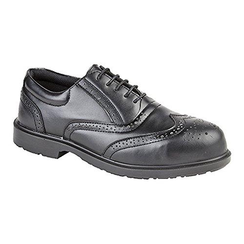 Grafters - Uniform - Scarpe di sicurezza in pelle non metalliche - Uomo Nero