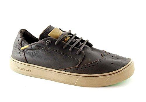 SATORISAN 162005 Koa marrone brown scarpe uomo derby lacci pelle puntale 40