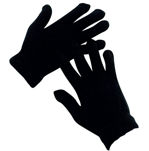 Price comparison product image 12 Pairs Black Magic Gloves Unisex Men Ladies Winter one size by B.linx
