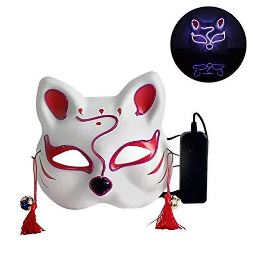 BEENZY LED Leuchtmaske - Katzenform Leuchtmaske Männlich Weiblich Persönlichkeit Karneval Nacht Prom Anime Masken Street Dance Maske Für Halloween Party, Scary Halloween Flashing Mask
