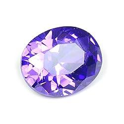 55Carat Cubic Zircon Stone 4.75 Ratti Oval Jarkan Loose Gemstone Dark Purple