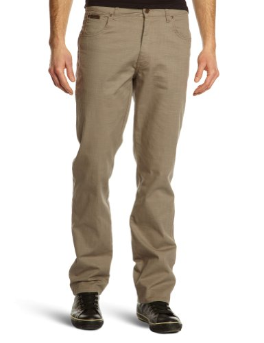 Wrangler - Texas Stretch - Pantalon - Droit - Stretch - Homme Beige (Light Olive)