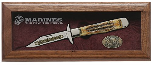 CaseXX XX U.S. Marines Semper FI 6.5 Bone Stag Cheetah 1/250 Pocket Knife Set