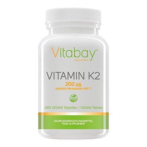 Vitamin K2 200 µg (365 vegane Tabletten) -