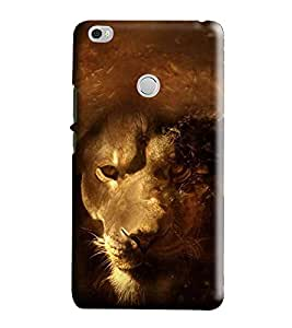 Hi-Me Designer Phone Back Case Cover Xiaomi Mi Max :: Redmi Max :: Xiaomi Mi Max ( Fiery Golden Strong Lone Lion )