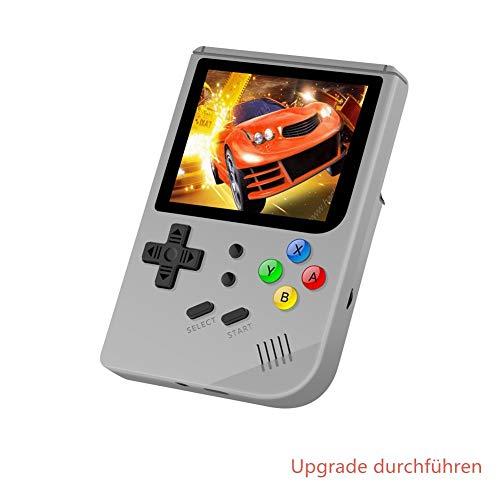 Neutral Pocket-Spielekonsole, aktualisierte Version der Retro-Spielekonsole, unterstützt die mehrsprachige, integrierte Spielekonsole Stuart Tony mit 3000 Spielen(Grau Plus) - La Source Mini