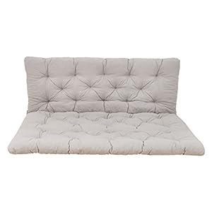 Ambientehome Palettenkissen mit Rückenlehne, grau, Sitzpolster 120 x 80, Rückenkissen 120 x 60 cm, Indoor & Outdoor