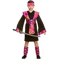 Traje de disfraces de Ninja Assassin negro / rosa de ninjas de niña
