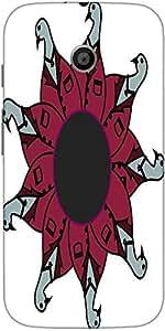 Snoogg Funky Faces Circle Designer Protective Back Case Cover For Motorola E ...