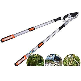 XPKZYSLJ-J Tijera de podar telescópica Profesional Menos Esfuerzo Corte fácil Aluminio Ligero Extensible de 70 a 100 cm para Ramas de árboles y para podar setos Herramienta de jardinería de Calidad