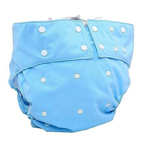 lukloy–Herren Erwachsene Tuch Windeln mit 1Einsatz für Inkontinenz Care–Dual Opening Pocket waschbar verstellbar wiederverwendbar leakfree