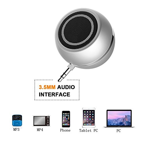 Portable-Speaker-LC-dolida-Mini-Wireless-Speaker-with-35mm-Aux-Audio-Jack-Plug-Line-in-Speaker-with-Built-in-Rechargeable-Battery-for-Cellphone-Tablets-iPad-iPod-laptops-MP3-MP4-Plug-and-Play