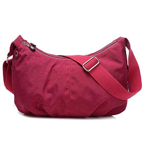 Outreo Umhängetasche Kleine Schultertasche Leichter Wasserdicht Designer Messenger Bag Sporttasche Mode Taschen Damen Kuriertasche für Mädchen