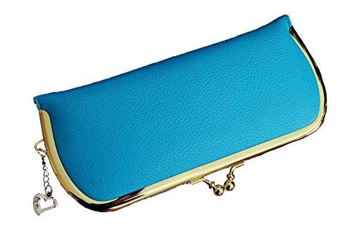Di Modo Delle Signore Grande Capacità 2pcs Frizione Multi-color Blue