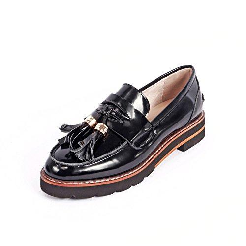 Schuhe klobige Mit Spring Schuhe fransen Heels wilde A Fashion Freizeitschuhe Niedrigen Damenschuhe Lady Student IqUU4c7xw0