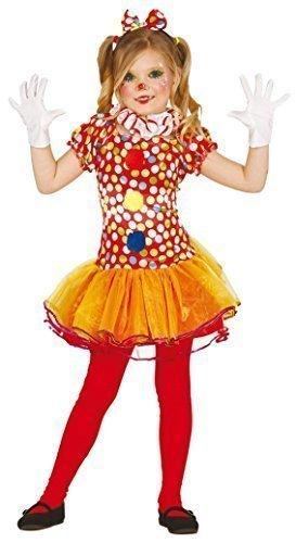 Fancy Me Mädchen-Rot gepunktet Zirkus Clown Halloween Kostüm Kleid Outfit 3-12 Jahre - Rot, Rot, 5-6 Years (Clown Halloween-kostüme Mädchen)