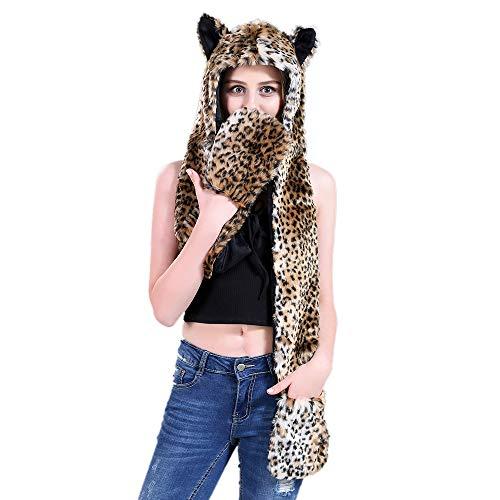TopTie Tiermütze Wintermütze Hut Kopfbedeckung Kostüm für Erwachsene Kinder Cheetah (Cheetah Kostüm Kinder)