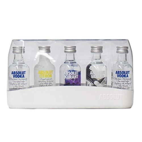 Absolut Naturals Gift Set (contiene 5 x assortiti Absolut Vodka Miniatures )