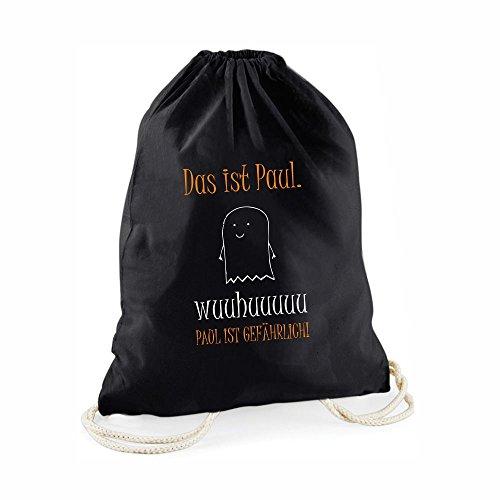 Halloween Beutel PERSONALISIERBAR - schwarzer Süßigkeitenbeutel
