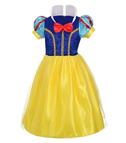 Lito Angels Baby Mädchen Prinzessin Schneewittchen Kleid Kostüm Weihnachten Halloween Party Verkleidung Karneval Cosplay Kinder 12-18 Monate - 12 18 Monat Schneewittchen Kostüm