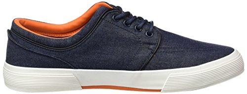 British Knights Road, Baskets Basses homme Bleu - Blau (Navy-Orange 04)