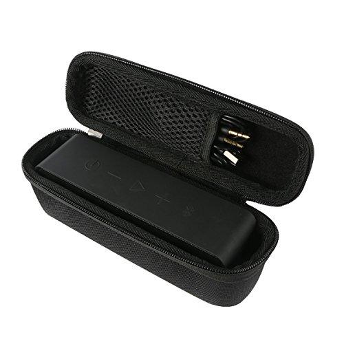 Khanka Hart EVA Reise tragen Fall Tasche Case Für Anker SoundCore / Anker SoundCore 2 Wireless Portabel Stereo Mobiler Bluetooth 4.0 Lautsprecher Speaker. Netztasche für die Kabel - Schwarz