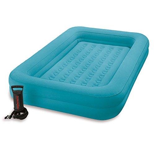 Intex Luftbett Kinder Reisebett 168 x 107 x 25 cm blau mit Pumpe 166810