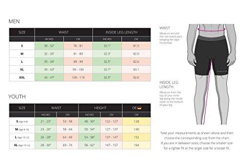 Herren Kind PowerLayer Funktionsunterwäsche Kompressionsshort Armour Compression Shorts Skins - Medium - Black