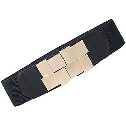 iShine Mujer Cinturón Vintage Estiramiento Elástico Cinturón Cuero Artificial Cinturón para Vestir o Jean