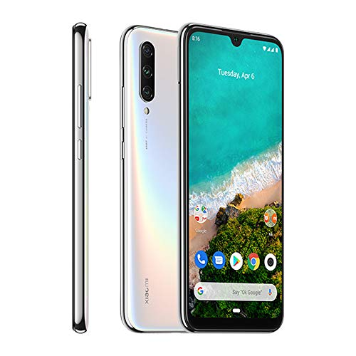Xiaomi Mi A3 Smartphones 4GB RAM + 64GB ROM, Pantalla de 6.088'', procesador Octa-Core, 32MP Frontal y 48MP AI Triple Cámara Teléfonos móviles Versión Global (Blanco)