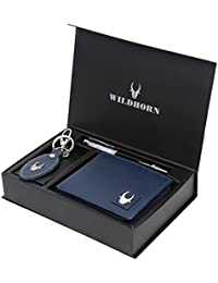 WildHorn Blue Men's Wallet (GIFTBOX 150)