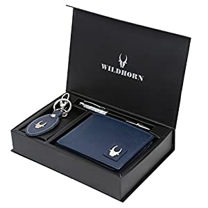 Leather Wallet Keychain & Pen Combo for Men Best Online Shopping Store