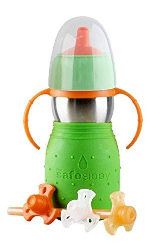 Kid Basix 240 Safe Sippy 2, Trinkflasche 330 ml, grün