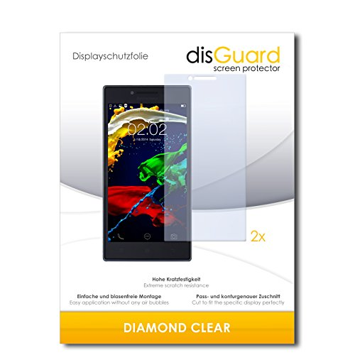 2 x disGuard® Bildschirmschutzfolie Lenovo P70 Schutzfolie Folie