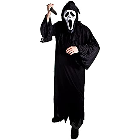 I Love Fancy Dress ilfd4025 + 179 + mask-xxl adultos Screamer hombre Halloween disfraz – Robe, máscara y sangriento cuchillo XXL