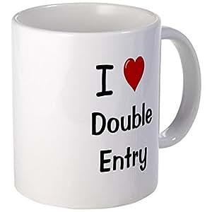 CafePress Mug - I Love Double Entry Accountant Mug - S White by CafePress