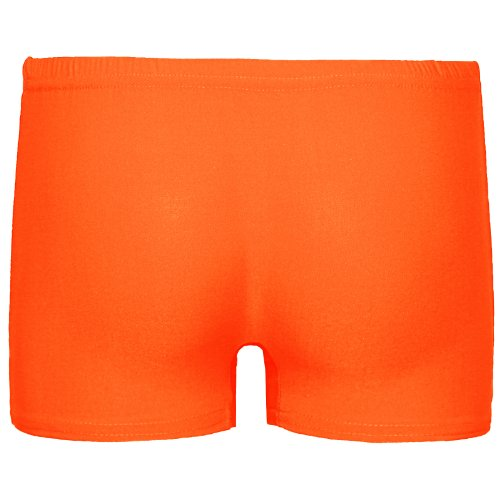 SHORT POUR FEMME MOTIF DANCE CLUB WEAR TUT FÊTE SEXY STRETCH TAILLE 36–42 Orange - Orange fluo