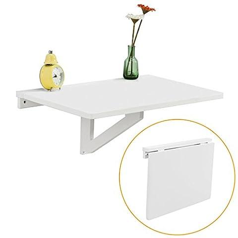 SoBuy Wandklapptisch,Küchentisch,Kindermöbel,Laptoptisch,Esstisch,Schreibtisch,60x40cm