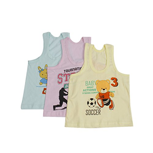 65b853e32 Littly Unisex Printed Cotton Baby Vests