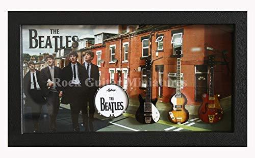 Unbekannt RGM8975 John Lennon Beatles Miniature Guitar Collection in Shadowbox Frame