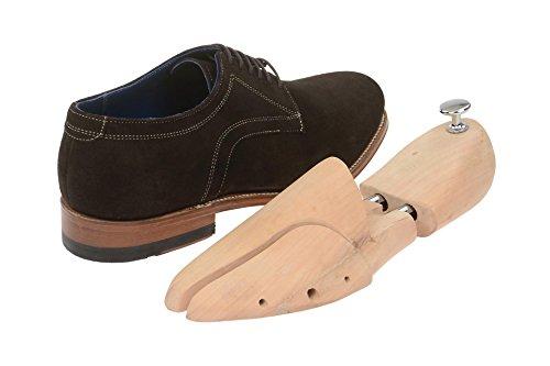 Gordon & Bros Monsieur Chaussures Levet 2320classique rahmengenähter Lacets Chaussures basses avec lacets et chaussures Derby dans coffret cadeau Marron - Marron