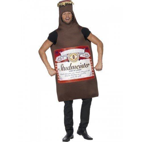 Herren Budweiser Bier Flasche Lager Studmeister Junggesellenabschied Kostüm Party Kostüm Outfit
