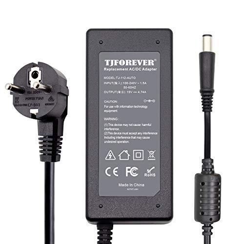 TJFOREVER 19V 4.74A 90W 65W Chargeur Ordinateur Portable pour HP Pavilion G6 DV6 Envy 17 EliteBook Alimentation Adaptateur Connecteur: 7.4 * 5.0mm