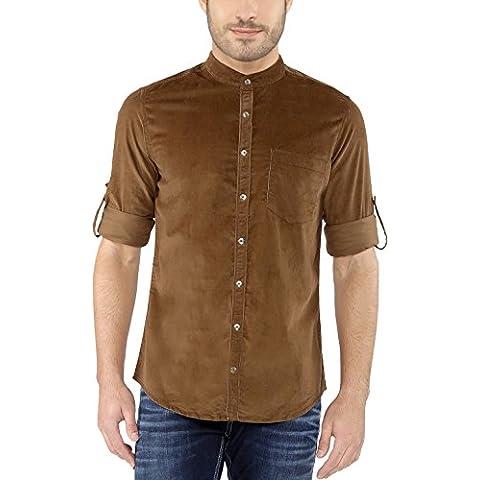 nick&jess -  Camicia Casual  -  Vestito modellante  - Basic - Collo mao  - Maniche lunghe  - Uomo