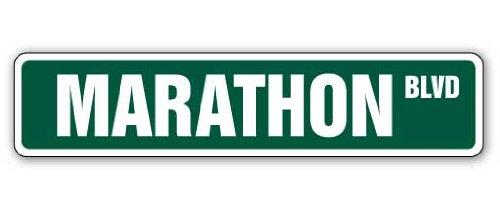 SignMission Marathon Straßenschild Run Running Olympischen Spiel Jog-| | 45,7cm Breit