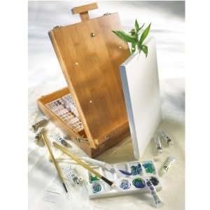 Kit boîte chevalet de table Bambou + huile Lefranc & Bourgeois 30 pièces